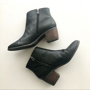 Lucky Brand Malvelia Bootie Black Leather Size 8